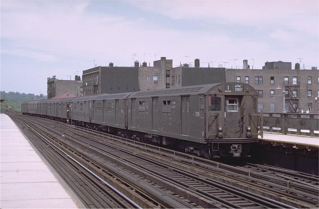 (187k, 1024x673)<br><b>Country:</b> United States<br><b>City:</b> New York<br><b>System:</b> New York City Transit<br><b>Line:</b> IRT West Side Line<br><b>Location:</b> 238th Street <br><b>Route:</b> 1<br><b>Car:</b> R-21 (St. Louis, 1956-57) 7298 <br><b>Photo by:</b> Joe Testagrose<br><b>Date:</b> 5/29/1971<br><b>Viewed (this week/total):</b> 1 / 2400