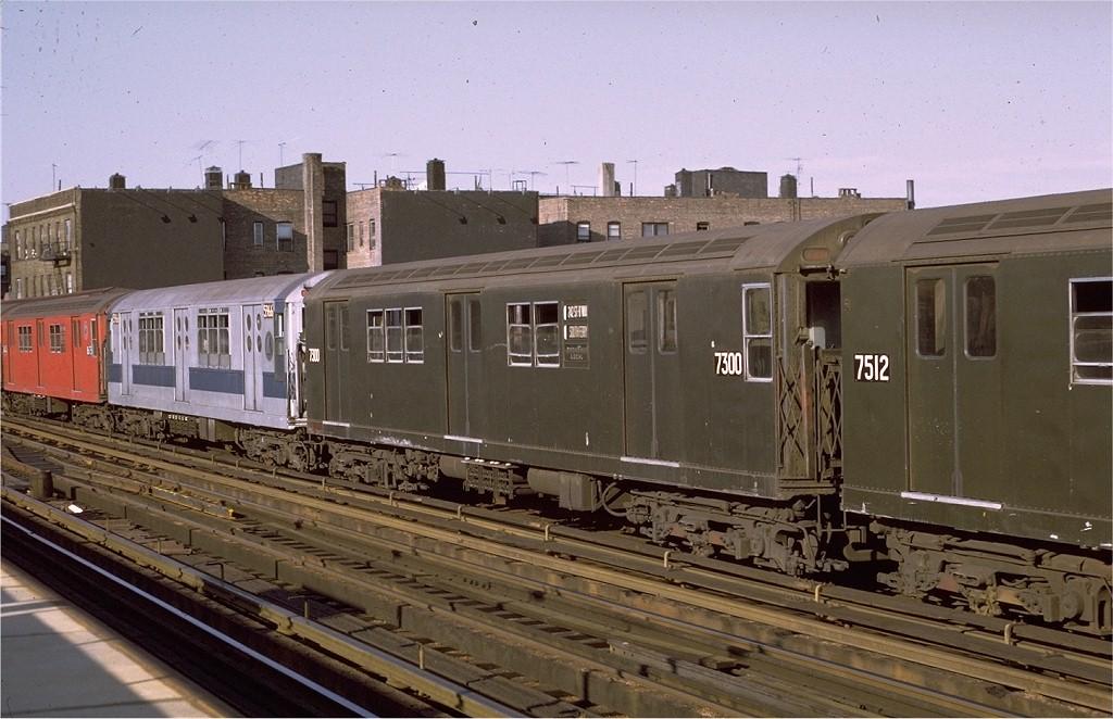 (190k, 1024x662)<br><b>Country:</b> United States<br><b>City:</b> New York<br><b>System:</b> New York City Transit<br><b>Line:</b> IRT West Side Line<br><b>Location:</b> 238th Street <br><b>Route:</b> 1<br><b>Car:</b> R-22 (St. Louis, 1957-58) 7300 <br><b>Photo by:</b> Joe Testagrose<br><b>Date:</b> 8/14/1971<br><b>Viewed (this week/total):</b> 4 / 2365