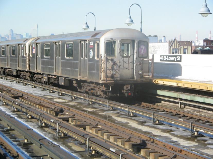 (292k, 828x621)<br><b>Country:</b> United States<br><b>City:</b> New York<br><b>System:</b> New York City Transit<br><b>Line:</b> IRT Flushing Line<br><b>Location:</b> 40th Street/Lowery Street <br><b>Route:</b> 7<br><b>Car:</b> R-62A (Bombardier, 1984-1987)  2132 <br><b>Photo by:</b> Jose Martinez<br><b>Date:</b> 2/1/2005<br><b>Viewed (this week/total):</b> 5 / 2374