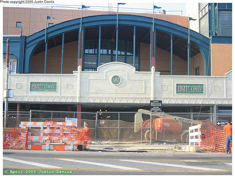 (200k, 820x620)<br><b>Country:</b> United States<br><b>City:</b> New York<br><b>System:</b> New York City Transit<br><b>Location:</b> Coney Island/Stillwell Avenue<br><b>Photo by:</b> Justin Davila<br><b>Date:</b> 4/25/2005<br><b>Notes:</b> View of the new facade at Stillwell Ave. station.<br><b>Viewed (this week/total):</b> 0 / 2953