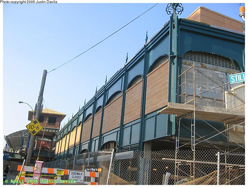 (190k, 820x620)<br><b>Country:</b> United States<br><b>City:</b> New York<br><b>System:</b> New York City Transit<br><b>Location:</b> Coney Island/Stillwell Avenue<br><b>Photo by:</b> Justin Davila<br><b>Date:</b> 4/25/2005<br><b>Notes:</b> View of the new facade at Stillwell Ave. station.<br><b>Viewed (this week/total):</b> 0 / 3161