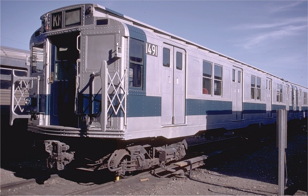 (184k, 1024x651)<br><b>Country:</b> United States<br><b>City:</b> New York<br><b>System:</b> New York City Transit<br><b>Location:</b> Coney Island Yard<br><b>Car:</b> R-7 (Pullman, 1937)  1491 <br><b>Photo by:</b> Doug Grotjahn<br><b>Collection of:</b> Joe Testagrose<br><b>Date:</b> 7/18/1971<br><b>Viewed (this week/total):</b> 0 / 3135