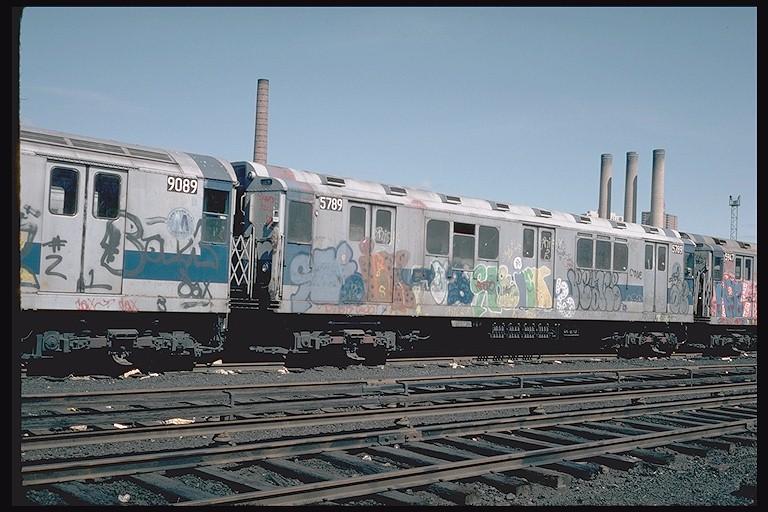(127k, 768x512)<br><b>Country:</b> United States<br><b>City:</b> New York<br><b>System:</b> New York City Transit<br><b>Location:</b> 207th Street Yard<br><b>Car:</b> R-12 (American Car & Foundry, 1948) 5789 <br><b>Photo by:</b> Steve Zabel<br><b>Collection of:</b> Joe Testagrose<br><b>Date:</b> 4/1976<br><b>Viewed (this week/total):</b> 2 / 3633