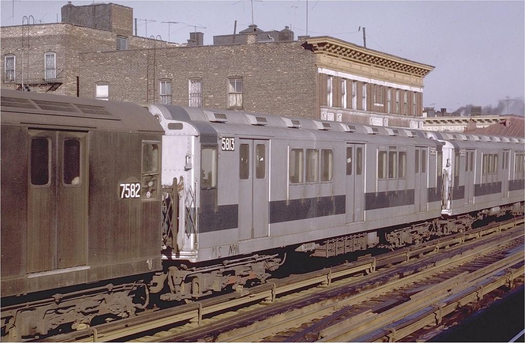 (231k, 1024x669)<br><b>Country:</b> United States<br><b>City:</b> New York<br><b>System:</b> New York City Transit<br><b>Line:</b> IRT White Plains Road Line<br><b>Location:</b> Freeman Street <br><b>Car:</b> R-14 (American Car & Foundry, 1949) 5813 <br><b>Photo by:</b> Joe Testagrose<br><b>Date:</b> 2/6/1971<br><b>Viewed (this week/total):</b> 3 / 3081