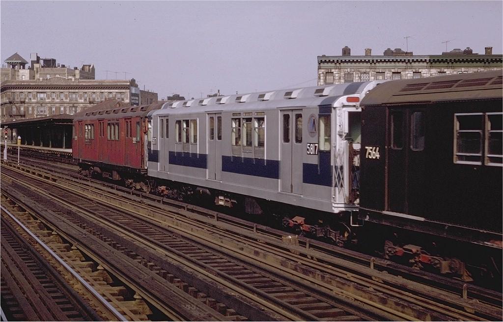 (210k, 1024x656)<br><b>Country:</b> United States<br><b>City:</b> New York<br><b>System:</b> New York City Transit<br><b>Line:</b> IRT White Plains Road Line<br><b>Location:</b> Simpson Street <br><b>Car:</b> R-14 (American Car & Foundry, 1949) 5817 <br><b>Photo by:</b> Joe Testagrose<br><b>Date:</b> 5/9/1970<br><b>Viewed (this week/total):</b> 0 / 2520