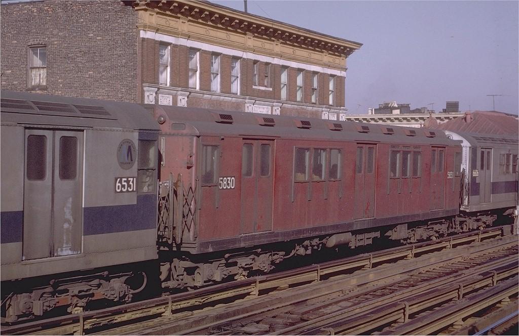 (215k, 1024x664)<br><b>Country:</b> United States<br><b>City:</b> New York<br><b>System:</b> New York City Transit<br><b>Line:</b> IRT White Plains Road Line<br><b>Location:</b> Freeman Street <br><b>Route:</b> 2<br><b>Car:</b> R-14 (American Car & Foundry, 1949) 5830 <br><b>Photo by:</b> Joe Testagrose<br><b>Date:</b> 2/6/1971<br><b>Viewed (this week/total):</b> 1 / 2813