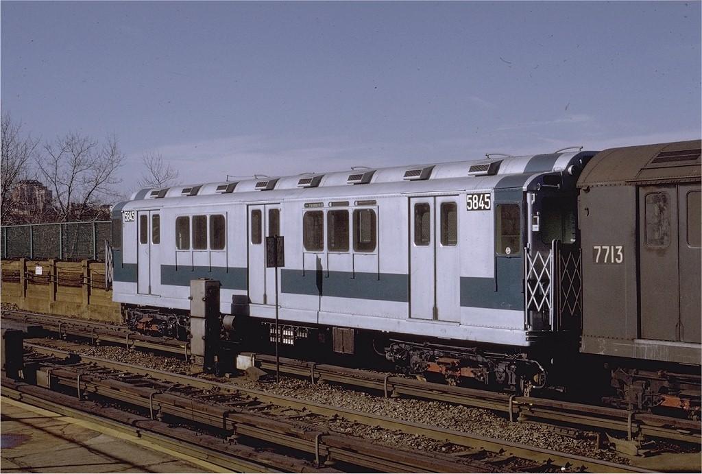(202k, 1024x691)<br><b>Country:</b> United States<br><b>City:</b> New York<br><b>System:</b> New York City Transit<br><b>Line:</b> IRT Woodlawn Line<br><b>Location:</b> Bedford Park Boulevard <br><b>Car:</b> R-14 (American Car & Foundry, 1949) 5845 <br><b>Photo by:</b> Joe Testagrose<br><b>Date:</b> 1/30/1971<br><b>Viewed (this week/total):</b> 0 / 3786