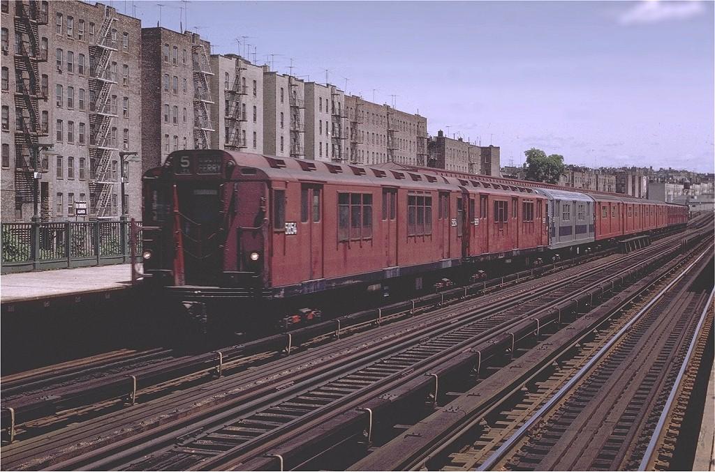 (250k, 1024x677)<br><b>Country:</b> United States<br><b>City:</b> New York<br><b>System:</b> New York City Transit<br><b>Line:</b> IRT Woodlawn Line<br><b>Location:</b> 176th Street <br><b>Route:</b> 4<br><b>Car:</b> R-14 (American Car & Foundry, 1949) 5854 <br><b>Photo by:</b> Joe Testagrose<br><b>Date:</b> 6/13/1970<br><b>Viewed (this week/total):</b> 0 / 3738