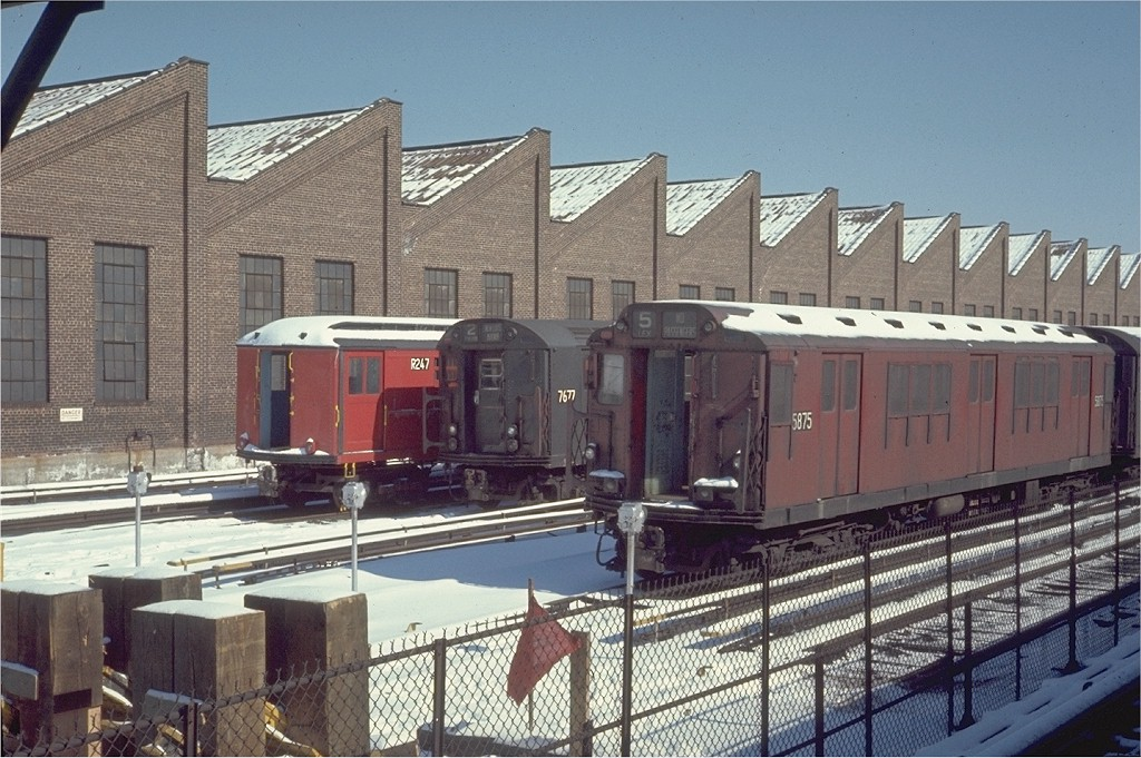 (227k, 1024x681)<br><b>Country:</b> United States<br><b>City:</b> New York<br><b>System:</b> New York City Transit<br><b>Location:</b> East 180th Street Yard<br><b>Car:</b> R-14 (American Car & Foundry, 1949) 5875 <br><b>Photo by:</b> Steve Zabel<br><b>Collection of:</b> Joe Testagrose<br><b>Date:</b> 3/30/1970<br><b>Viewed (this week/total):</b> 0 / 3467