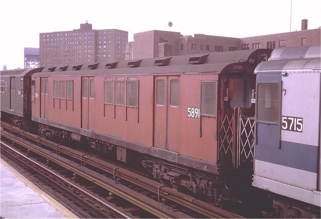 (219k, 1024x699)<br><b>Country:</b> United States<br><b>City:</b> New York<br><b>System:</b> New York City Transit<br><b>Line:</b> IRT West Side Line<br><b>Location:</b> 231st Street <br><b>Route:</b> 1<br><b>Car:</b> R-14 (American Car & Foundry, 1949) 5891 <br><b>Photo by:</b> Steve Zabel<br><b>Collection of:</b> Joe Testagrose<br><b>Date:</b> 11/22/1970<br><b>Viewed (this week/total):</b> 0 / 3250