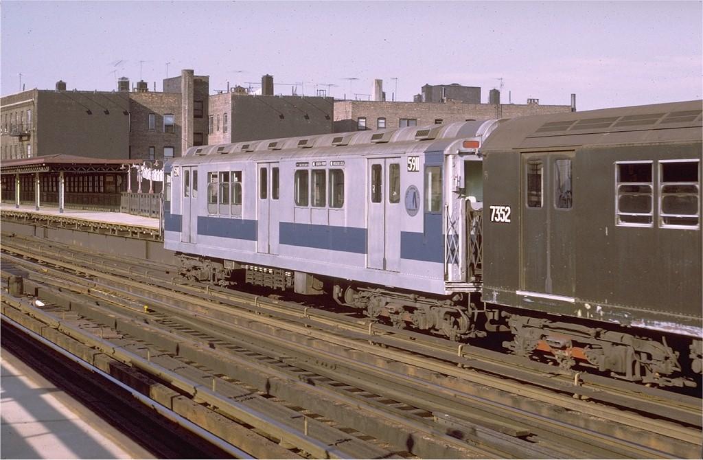 (199k, 1024x670)<br><b>Country:</b> United States<br><b>City:</b> New York<br><b>System:</b> New York City Transit<br><b>Line:</b> IRT West Side Line<br><b>Location:</b> 238th Street <br><b>Route:</b> 1<br><b>Car:</b> R-14 (American Car & Foundry, 1949) 5911 <br><b>Photo by:</b> Joe Testagrose<br><b>Date:</b> 8/14/1971<br><b>Viewed (this week/total):</b> 1 / 2837