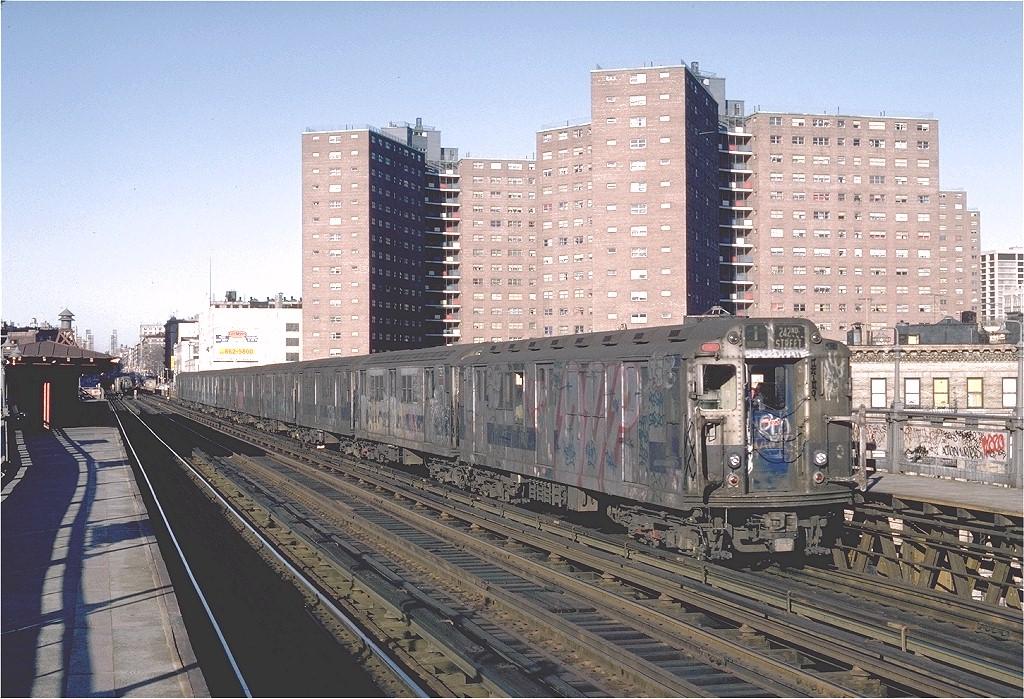 (268k, 1024x699)<br><b>Country:</b> United States<br><b>City:</b> New York<br><b>System:</b> New York City Transit<br><b>Line:</b> IRT West Side Line<br><b>Location:</b> 125th Street <br><b>Route:</b> 1<br><b>Car:</b> R-14 (American Car & Foundry, 1949) 5935 <br><b>Photo by:</b> Steve Zabel<br><b>Collection of:</b> Joe Testagrose<br><b>Date:</b> 2/25/1982<br><b>Viewed (this week/total):</b> 1 / 4985