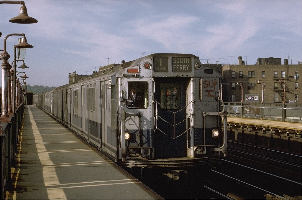 (211k, 1024x679)<br><b>Country:</b> United States<br><b>City:</b> New York<br><b>System:</b> New York City Transit<br><b>Line:</b> IRT West Side Line<br><b>Location:</b> 238th Street <br><b>Car:</b> R-14 (American Car & Foundry, 1949) 5935 <br><b>Photo by:</b> Joe Testagrose<br><b>Date:</b> 5/21/1972<br><b>Viewed (this week/total):</b> 0 / 3326