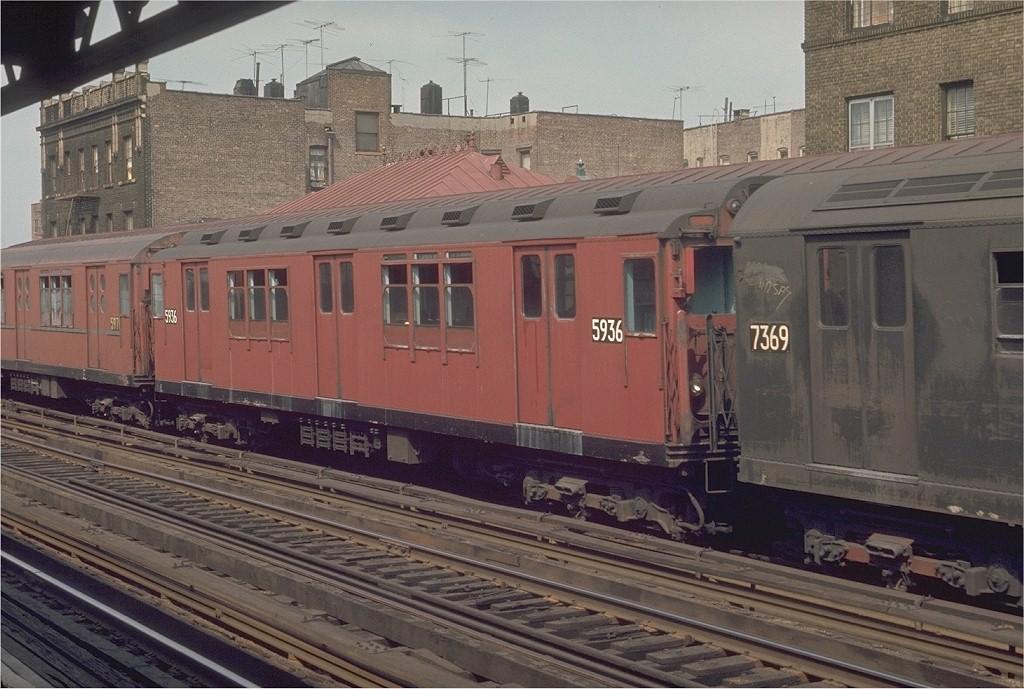 (208k, 1024x689)<br><b>Country:</b> United States<br><b>City:</b> New York<br><b>System:</b> New York City Transit<br><b>Line:</b> IRT West Side Line<br><b>Location:</b> 238th Street <br><b>Route:</b> 1<br><b>Car:</b> R-14 (American Car & Foundry, 1949) 5936 <br><b>Photo by:</b> Joe Testagrose<br><b>Date:</b> 5/31/1970<br><b>Viewed (this week/total):</b> 1 / 2424