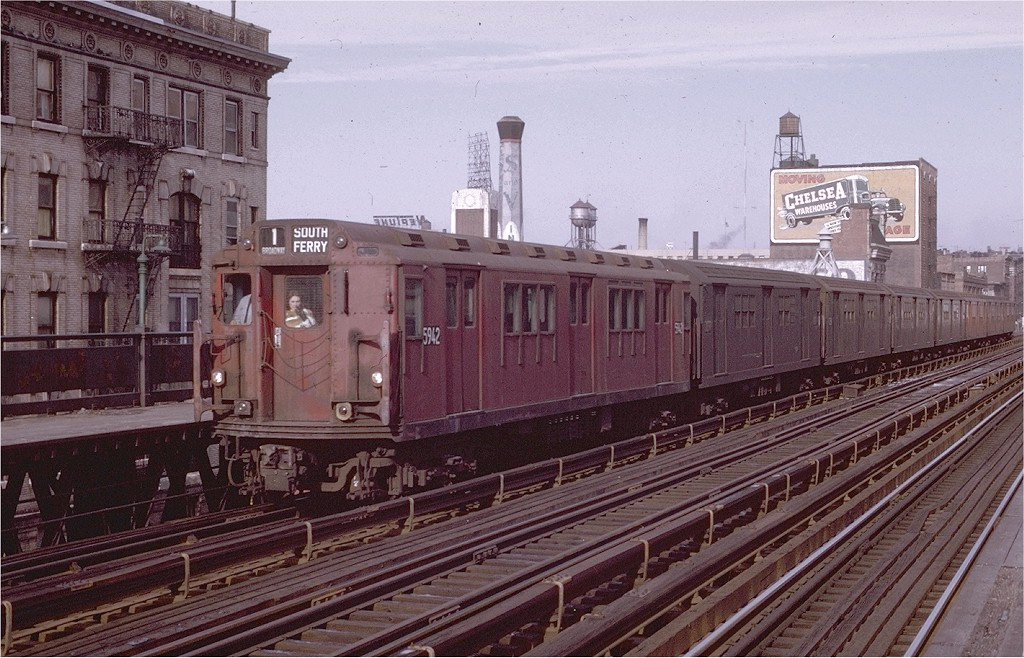 (225k, 1024x658)<br><b>Country:</b> United States<br><b>City:</b> New York<br><b>System:</b> New York City Transit<br><b>Line:</b> IRT West Side Line<br><b>Location:</b> 125th Street <br><b>Car:</b> R-14 (American Car & Foundry, 1949) 5942 <br><b>Photo by:</b> Joe Testagrose<br><b>Date:</b> 1/11/1970<br><b>Viewed (this week/total):</b> 4 / 2774