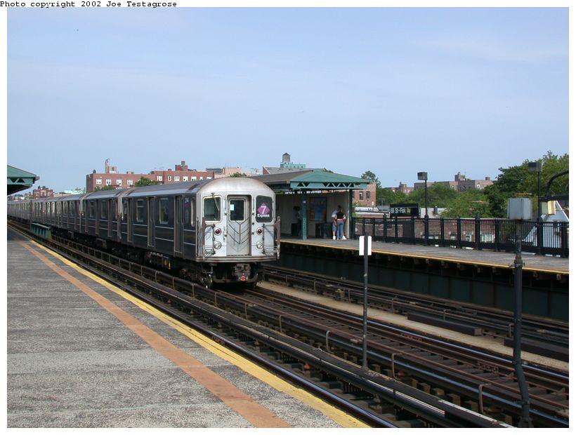 (118k, 820x620)<br><b>Country:</b> United States<br><b>City:</b> New York<br><b>System:</b> New York City Transit<br><b>Line:</b> IRT Flushing Line<br><b>Location:</b> 69th Street/Fisk Avenue <br><b>Route:</b> 7<br><b>Car:</b> R-62A (Bombardier, 1984-1987)  2144 <br><b>Photo by:</b> Joe Testagrose<br><b>Date:</b> 6/4/2002<br><b>Viewed (this week/total):</b> 1 / 2949