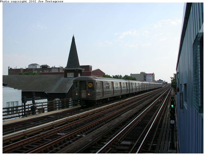 (106k, 820x620)<br><b>Country:</b> United States<br><b>City:</b> New York<br><b>System:</b> New York City Transit<br><b>Line:</b> BMT Astoria Line<br><b>Location:</b> 30th/Grand Aves. <br><b>Route:</b> N<br><b>Car:</b> R-68 (Westinghouse-Amrail, 1986-1988)  2902 <br><b>Photo by:</b> Joe Testagrose<br><b>Date:</b> 6/19/2002<br><b>Viewed (this week/total):</b> 7 / 3699