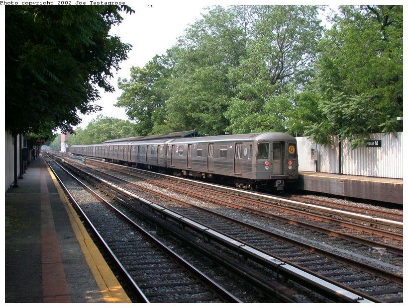 (173k, 820x620)<br><b>Country:</b> United States<br><b>City:</b> New York<br><b>System:</b> New York City Transit<br><b>Line:</b> BMT Brighton Line<br><b>Location:</b> Avenue M <br><b>Route:</b> Q<br><b>Car:</b> R-68 (Westinghouse-Amrail, 1986-1988)  2914 <br><b>Photo by:</b> Joe Testagrose<br><b>Date:</b> 6/11/2002<br><b>Viewed (this week/total):</b> 0 / 3778