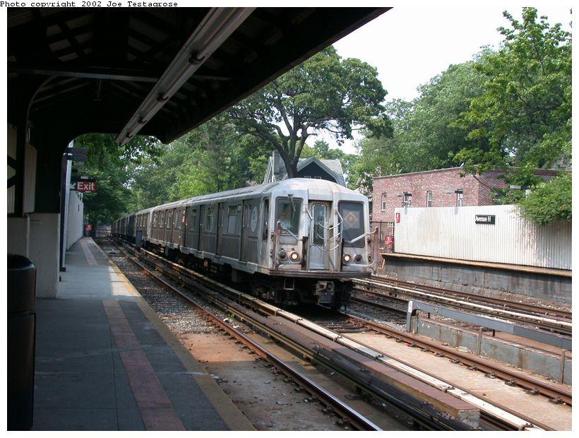 (148k, 820x620)<br><b>Country:</b> United States<br><b>City:</b> New York<br><b>System:</b> New York City Transit<br><b>Line:</b> BMT Brighton Line<br><b>Location:</b> Avenue H <br><b>Route:</b> Q<br><b>Car:</b> R-40 (St. Louis, 1968)  4311 <br><b>Photo by:</b> Joe Testagrose<br><b>Date:</b> 6/11/2002<br><b>Viewed (this week/total):</b> 1 / 3345