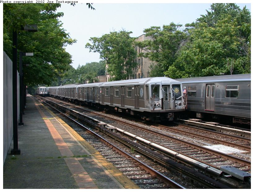 (160k, 820x620)<br><b>Country:</b> United States<br><b>City:</b> New York<br><b>System:</b> New York City Transit<br><b>Line:</b> BMT Brighton Line<br><b>Location:</b> Avenue H <br><b>Route:</b> Q<br><b>Car:</b> R-40 (St. Louis, 1968)  4419 <br><b>Photo by:</b> Joe Testagrose<br><b>Date:</b> 6/11/2002<br><b>Viewed (this week/total):</b> 1 / 3551