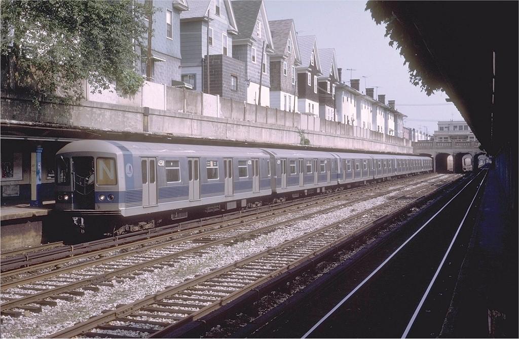 (239k, 1024x669)<br><b>Country:</b> United States<br><b>City:</b> New York<br><b>System:</b> New York City Transit<br><b>Line:</b> BMT Sea Beach Line<br><b>Location:</b> Kings Highway <br><b>Route:</b> N<br><b>Car:</b> R-42 (St. Louis, 1969-1970)  4558 <br><b>Photo by:</b> Steve Zabel<br><b>Collection of:</b> Joe Testagrose<br><b>Date:</b> 7/1/1972<br><b>Viewed (this week/total):</b> 1 / 4424
