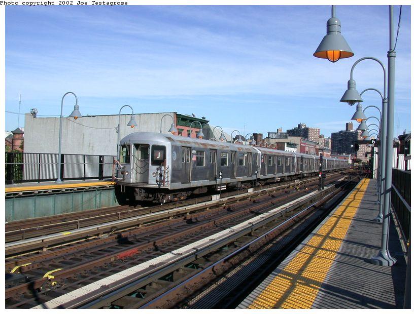 (135k, 820x620)<br><b>Country:</b> United States<br><b>City:</b> New York<br><b>System:</b> New York City Transit<br><b>Line:</b> BMT Nassau Street/Jamaica Line<br><b>Location:</b> Marcy Avenue <br><b>Route:</b> J<br><b>Car:</b> R-42 (St. Louis, 1969-1970)  4651 <br><b>Photo by:</b> Joe Testagrose<br><b>Date:</b> 9/22/2002<br><b>Viewed (this week/total):</b> 0 / 4659