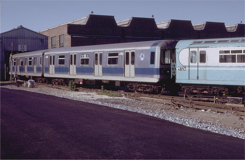 (225k, 1024x671)<br><b>Country:</b> United States<br><b>City:</b> New York<br><b>System:</b> New York City Transit<br><b>Location:</b> Coney Island Yard<br><b>Car:</b> R-42 (St. Louis, 1969-1970)  4900 <br><b>Photo by:</b> Doug Grotjahn<br><b>Collection of:</b> Joe Testagrose<br><b>Date:</b> 7/18/1971<br><b>Viewed (this week/total):</b> 1 / 3359
