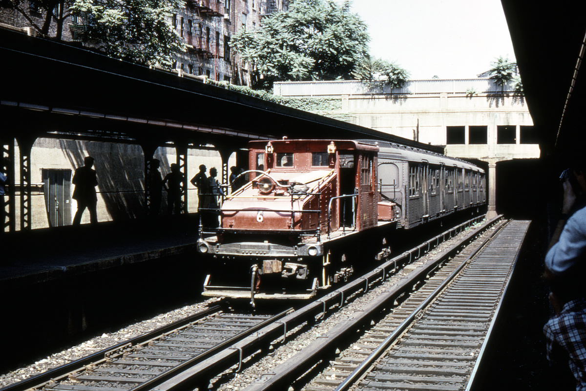 (437k, 1024x683)<br><b>Country:</b> United States<br><b>City:</b> New York<br><b>System:</b> New York City Transit<br><b>Line:</b> BMT Brighton Line<br><b>Location:</b> Prospect Park <br><b>Route:</b> Fan Trip<br><b>Car:</b> SBK Steeplecab 6 <br><b>Photo by:</b> Joe Testagrose<br><b>Collection of:</b> David Pirmann<br><b>Date:</b> 8/23/1969<br><b>Viewed (this week/total):</b> 0 / 3965