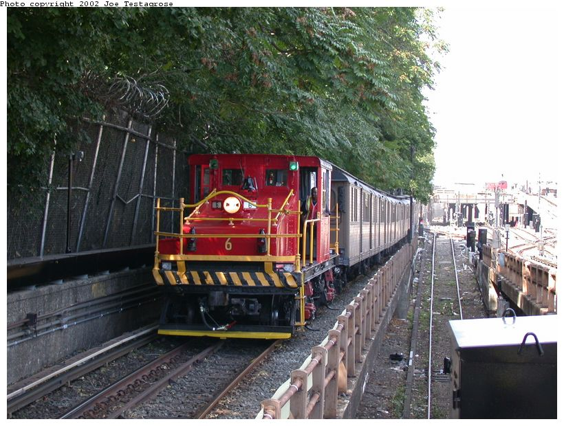 (154k, 820x620)<br><b>Country:</b> United States<br><b>City:</b> New York<br><b>System:</b> New York City Transit<br><b>Line:</b> BMT West End Line<br><b>Location:</b> 9th Avenue <br><b>Route:</b> Fan Trip<br><b>Car:</b> SBK Steeplecab 6 <br><b>Photo by:</b> Joe Testagrose<br><b>Date:</b> 9/22/2002<br><b>Viewed (this week/total):</b> 0 / 3899