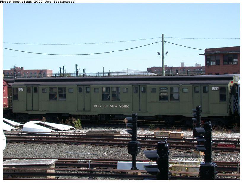 (121k, 820x620)<br><b>Country:</b> United States<br><b>City:</b> New York<br><b>System:</b> New York City Transit<br><b>Location:</b> Coney Island Yard-Museum Yard<br><b>Car:</b> R-9 (Pressed Steel, 1940)  1802 <br><b>Photo by:</b> Joe Testagrose<br><b>Date:</b> 9/22/2002<br><b>Viewed (this week/total):</b> 0 / 2890