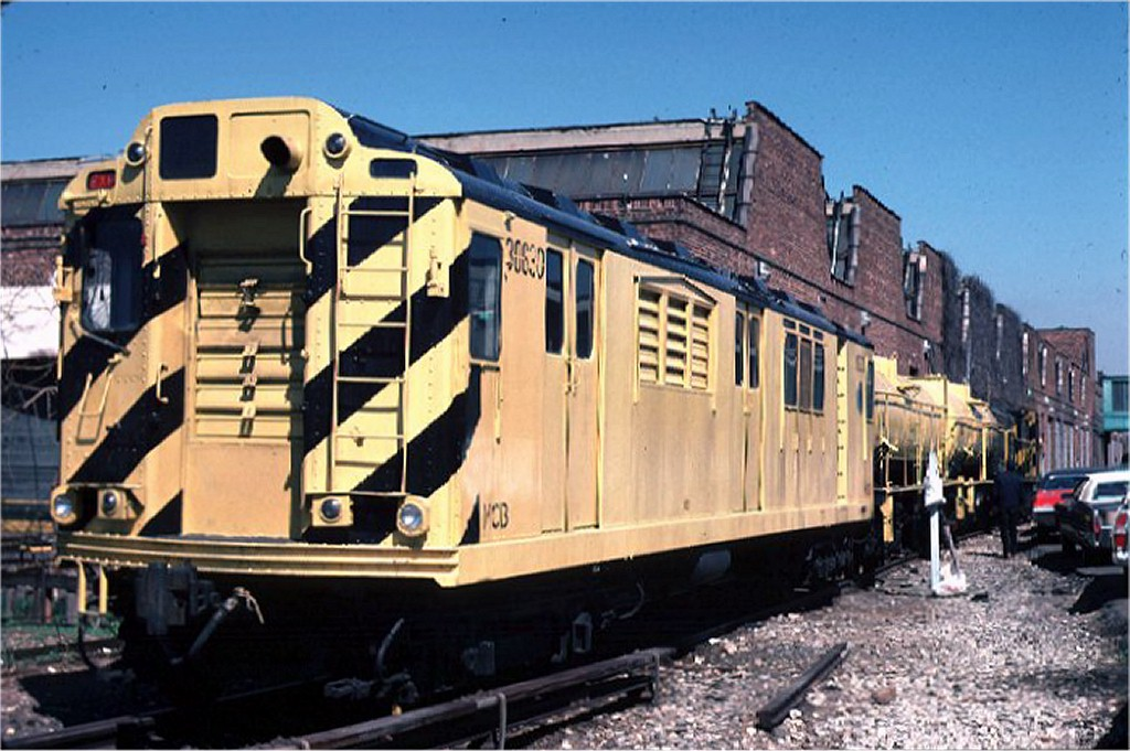 (190k, 1024x681)<br><b>Country:</b> United States<br><b>City:</b> New York<br><b>System:</b> New York City Transit<br><b>Location:</b> Coney Island Yard<br><b>Car:</b> Station Wash Train (R-12 Rebuilds)  30630 (ex-5709)<br><b>Collection of:</b> Joe Testagrose<br><b>Date:</b> 4/18/1970<br><b>Viewed (this week/total):</b> 1 / 8951