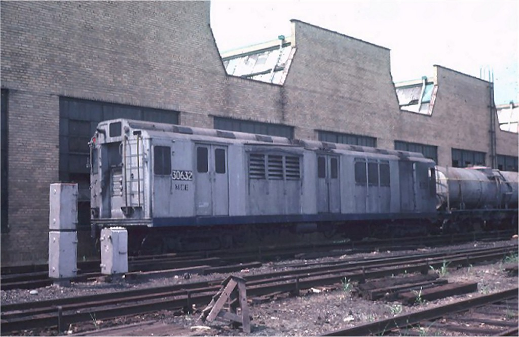 (149k, 1024x666)<br><b>Country:</b> United States<br><b>City:</b> New York<br><b>System:</b> New York City Transit<br><b>Location:</b> Coney Island Yard<br><b>Car:</b> Station Wash Train (R-12 Rebuilds)  30632 (ex-5711)<br><b>Photo by:</b> Steve Zabel<br><b>Collection of:</b> Joe Testagrose<br><b>Date:</b> 7/16/1974<br><b>Viewed (this week/total):</b> 3 / 7901