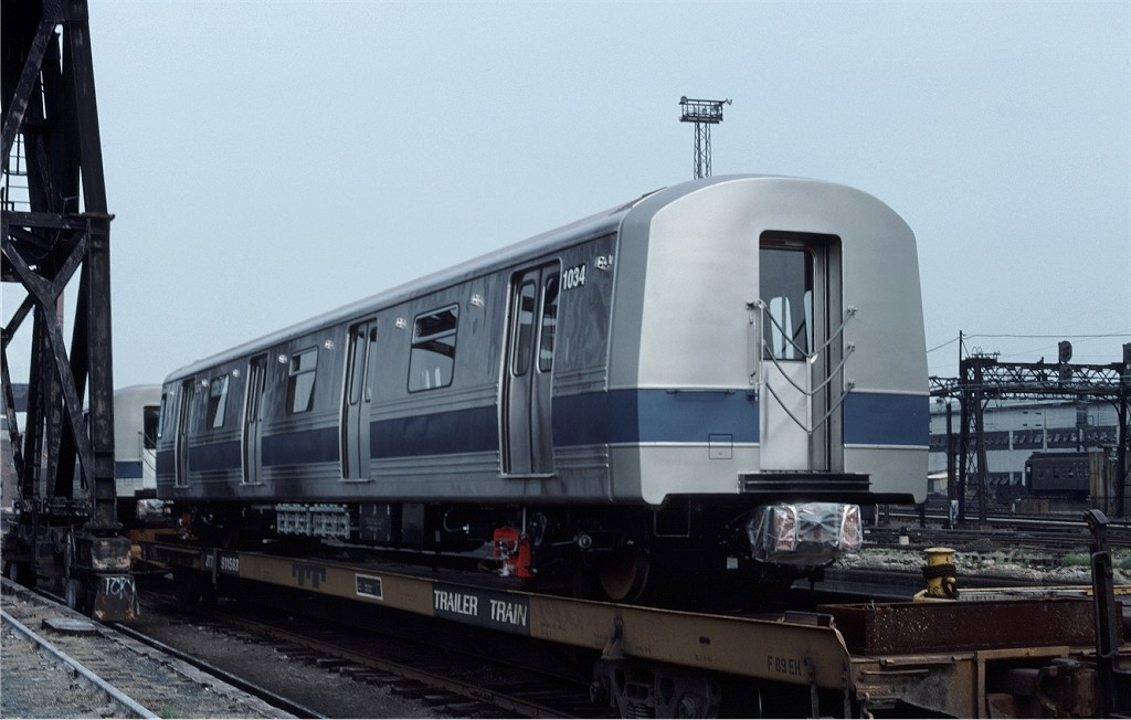 (148k, 1024x652)<br><b>Country:</b> United States<br><b>City:</b> Hoboken, NJ<br><b>System:</b> New York City Transit<br><b>Location:</b> Hoboken Yard <br><b>Car:</b> R-46 (Pullman-Standard, 1974-75) 1034 <br><b>Photo by:</b> Ed McKernan<br><b>Collection of:</b> Joe Testagrose<br><b>Date:</b> 5/21/1977<br><b>Viewed (this week/total):</b> 6 / 635