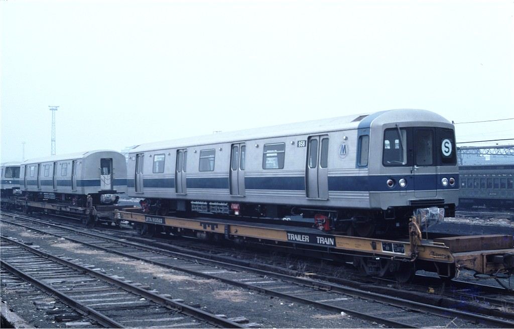 (137k, 1024x657)<br><b>Country:</b> United States<br><b>City:</b> Hoboken, NJ<br><b>System:</b> New York City Transit<br><b>Location:</b> Hoboken Yard <br><b>Car:</b> R-46 (Pullman-Standard, 1974-75) 958 <br><b>Photo by:</b> Ed McKernan<br><b>Collection of:</b> Joe Testagrose<br><b>Date:</b> 3/12/1977<br><b>Viewed (this week/total):</b> 0 / 464