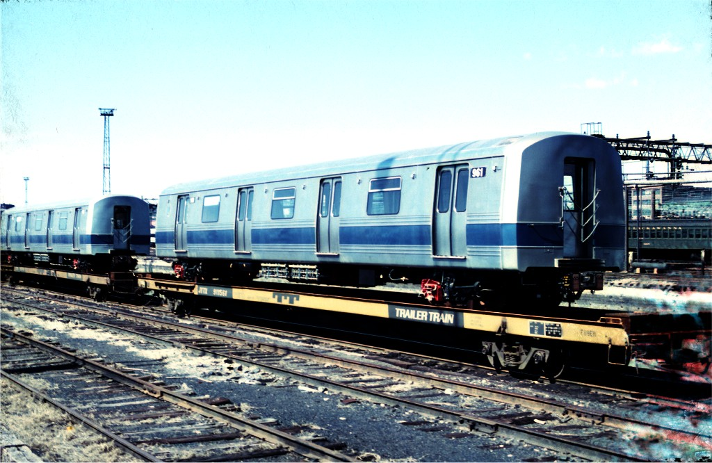 (203k, 1024x666)<br><b>Country:</b> United States<br><b>City:</b> Hoboken, NJ<br><b>System:</b> New York City Transit<br><b>Location:</b> Hoboken Yard <br><b>Car:</b> R-46 (Pullman-Standard, 1974-75) 961 <br><b>Photo by:</b> Ed McKernan<br><b>Collection of:</b> Joe Testagrose<br><b>Date:</b> 3/17/1977<br><b>Viewed (this week/total):</b> 2 / 427