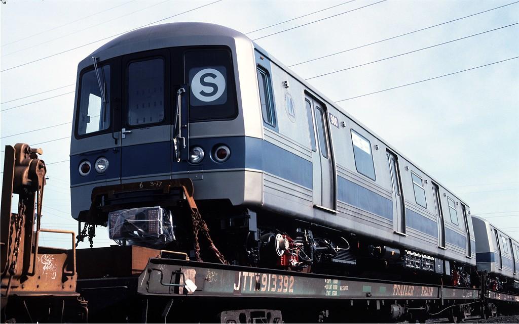 (170k, 1024x641)<br><b>Country:</b> United States<br><b>City:</b> Secaucus, NJ<br><b>System:</b> New York City Transit<br><b>Location:</b> Croxton Yard (NYCTA Equipment Delivery)<br><b>Car:</b> R-46 (Pullman-Standard, 1974-75) 980 <br><b>Photo by:</b> Ed McKernan<br><b>Collection of:</b> Joe Testagrose<br><b>Date:</b> 3/29/1977<br><b>Viewed (this week/total):</b> 0 / 616