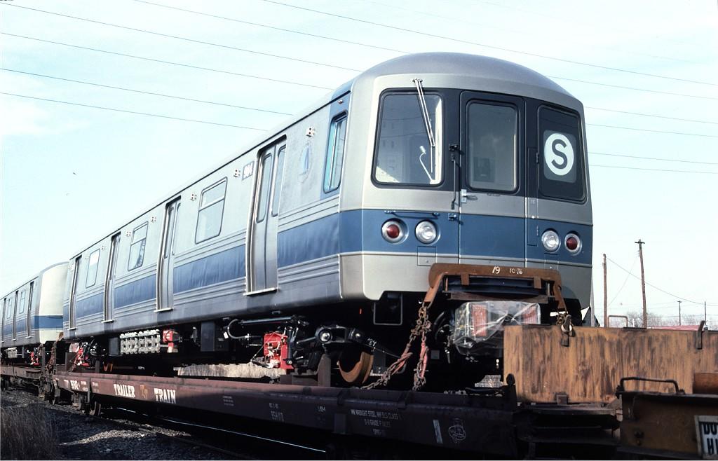 (160k, 1024x658)<br><b>Country:</b> United States<br><b>City:</b> Secaucus, NJ<br><b>System:</b> New York City Transit<br><b>Location:</b> Croxton Yard (NYCTA Equipment Delivery)<br><b>Car:</b> R-46 (Pullman-Standard, 1974-75) 984 <br><b>Photo by:</b> Ed McKernan<br><b>Collection of:</b> Joe Testagrose<br><b>Date:</b> 3/29/1977<br><b>Viewed (this week/total):</b> 0 / 440