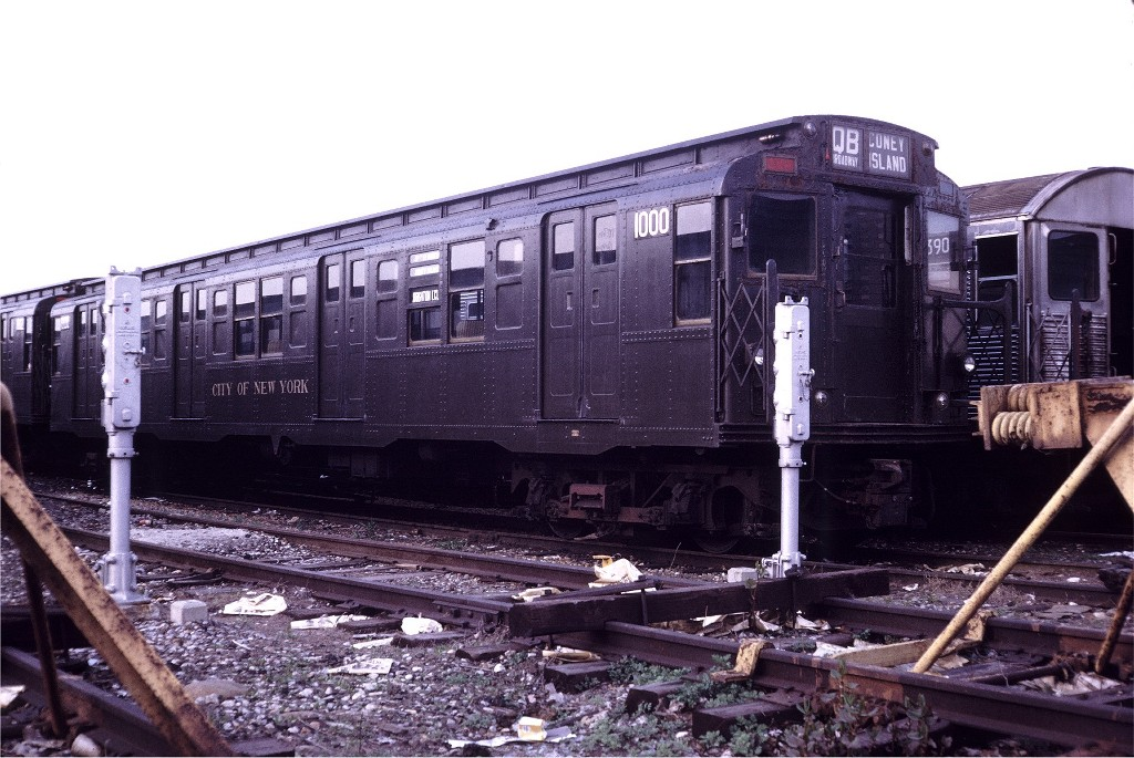 (209k, 1024x685)<br><b>Country:</b> United States<br><b>City:</b> New York<br><b>System:</b> New York City Transit<br><b>Location:</b> Coney Island Yard<br><b>Car:</b> R-6-3 (American Car & Foundry, 1935)  1000 <br><b>Collection of:</b> Joe Testagrose<br><b>Date:</b> 4/29/1972<br><b>Viewed (this week/total):</b> 0 / 873