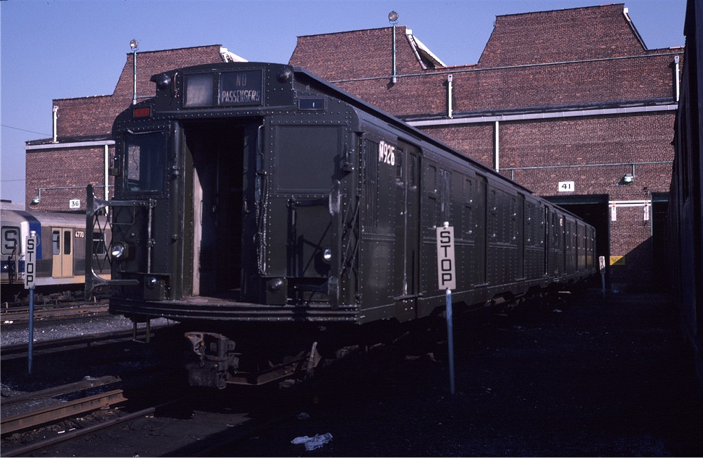 (184k, 1024x667)<br><b>Country:</b> United States<br><b>City:</b> New York<br><b>System:</b> New York City Transit<br><b>Location:</b> Coney Island Yard<br><b>Car:</b> R-6-3 (American Car & Foundry, 1935)  925 (ex-R708)<br><b>Photo by:</b> Steve Zabel<br><b>Collection of:</b> Joe Testagrose<br><b>Date:</b> 8/31/1979<br><b>Viewed (this week/total):</b> 2 / 808