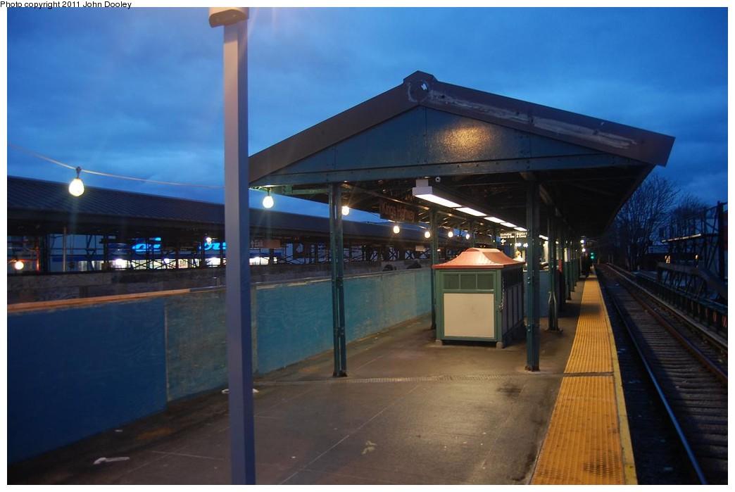 (171k, 1044x699)<br><b>Country:</b> United States<br><b>City:</b> New York<br><b>System:</b> New York City Transit<br><b>Line:</b> BMT Brighton Line<br><b>Location:</b> Kings Highway <br><b>Photo by:</b> John Dooley<br><b>Date:</b> 2/28/2011<br><b>Notes:</b> Southbound platform.<br><b>Viewed (this week/total):</b> 0 / 964