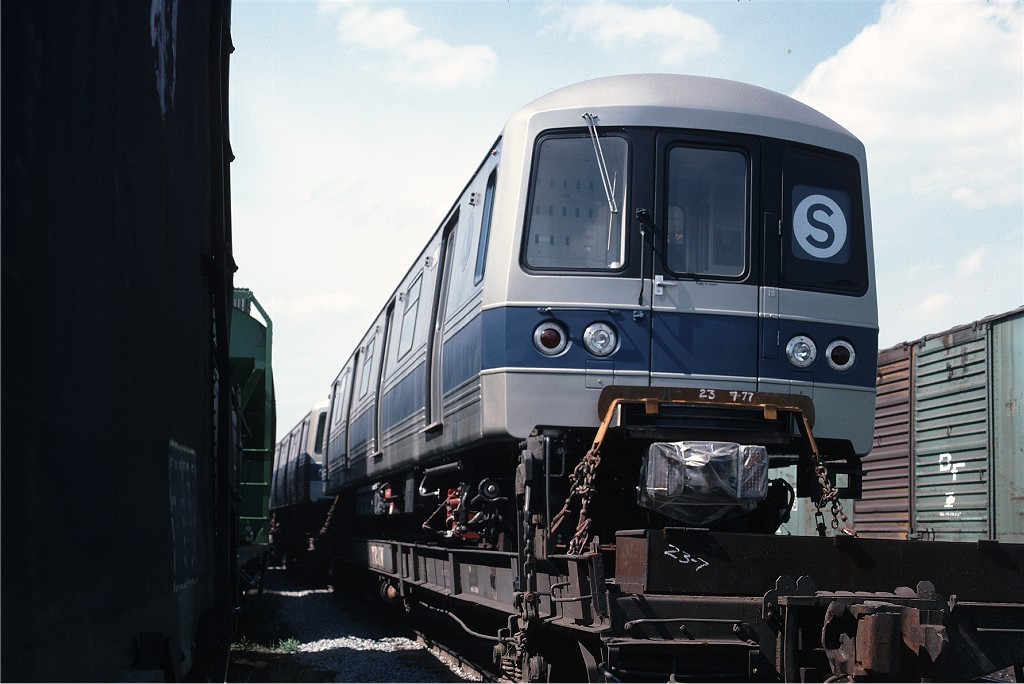 (161k, 1024x684)<br><b>Country:</b> United States<br><b>City:</b> Secaucus, NJ<br><b>System:</b> New York City Transit<br><b>Location:</b> Croxton Yard (NYCTA Equipment Delivery)<br><b>Car:</b> R-46 (Pullman-Standard, 1974-75) 1090 <br><b>Photo by:</b> Ed McKernan<br><b>Collection of:</b> Joe Testagrose<br><b>Date:</b> 7/24/1977<br><b>Viewed (this week/total):</b> 1 / 485