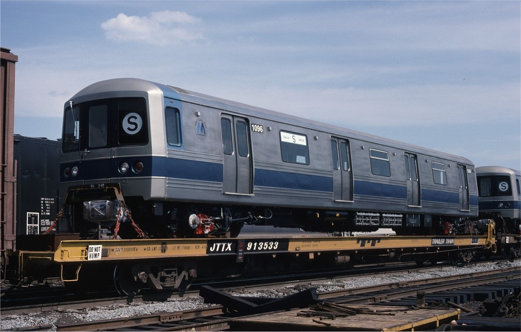 (161k, 1024x652)<br><b>Country:</b> United States<br><b>City:</b> Secaucus, NJ<br><b>System:</b> New York City Transit<br><b>Location:</b> Croxton Yard (NYCTA Equipment Delivery)<br><b>Car:</b> R-46 (Pullman-Standard, 1974-75) 1096 <br><b>Photo by:</b> Ed McKernan<br><b>Collection of:</b> Joe Testagrose<br><b>Date:</b> 7/24/1977<br><b>Viewed (this week/total):</b> 0 / 584