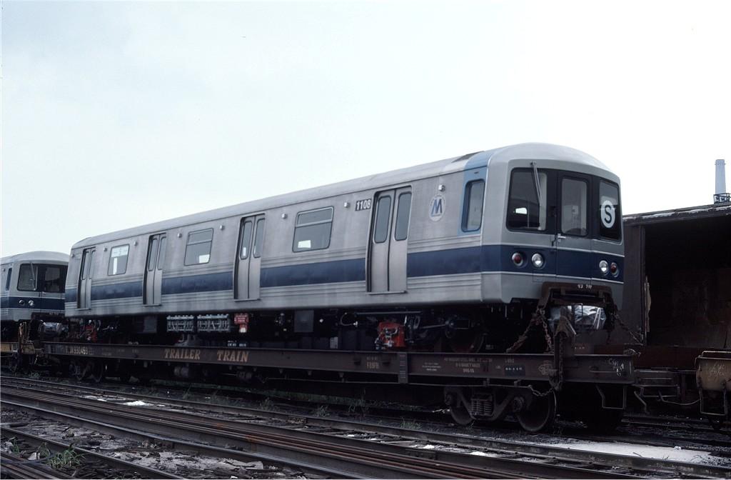 (130k, 1024x672)<br><b>Country:</b> United States<br><b>City:</b> Secaucus, NJ<br><b>System:</b> New York City Transit<br><b>Location:</b> Croxton Yard (NYCTA Equipment Delivery)<br><b>Car:</b> R-46 (Pullman-Standard, 1974-75) 1108 <br><b>Photo by:</b> Ed McKernan<br><b>Collection of:</b> Joe Testagrose<br><b>Date:</b> 8/10/1977<br><b>Viewed (this week/total):</b> 0 / 429