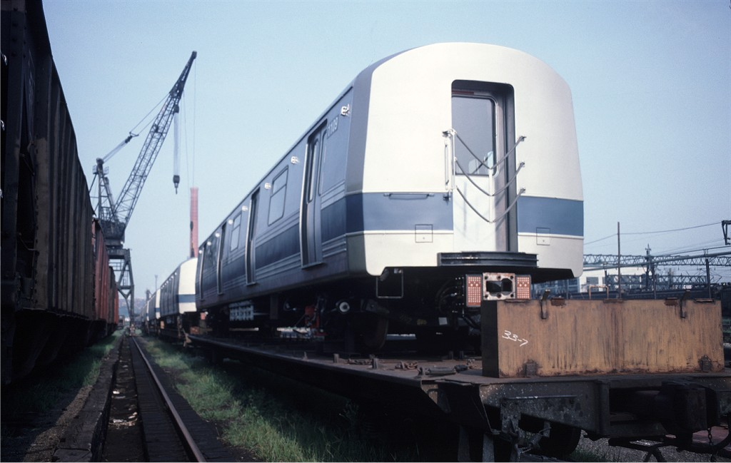 (126k, 1024x649)<br><b>Country:</b> United States<br><b>City:</b> Secaucus, NJ<br><b>System:</b> New York City Transit<br><b>Location:</b> Croxton Yard (NYCTA Equipment Delivery)<br><b>Car:</b> R-46 (Pullman-Standard, 1974-75) 1109 <br><b>Photo by:</b> Ed McKernan<br><b>Collection of:</b> Joe Testagrose<br><b>Date:</b> 8/6/1977<br><b>Viewed (this week/total):</b> 0 / 490