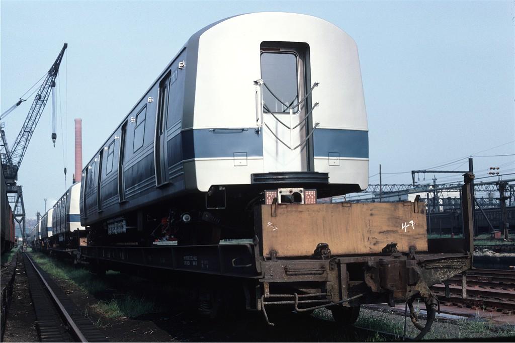 (160k, 1024x682)<br><b>Country:</b> United States<br><b>City:</b> Secaucus, NJ<br><b>System:</b> New York City Transit<br><b>Location:</b> Croxton Yard (NYCTA Equipment Delivery)<br><b>Car:</b> R-46 (Pullman-Standard, 1974-75) 1111 <br><b>Photo by:</b> Ed McKernan<br><b>Collection of:</b> Joe Testagrose<br><b>Date:</b> 8/6/1977<br><b>Viewed (this week/total):</b> 0 / 519