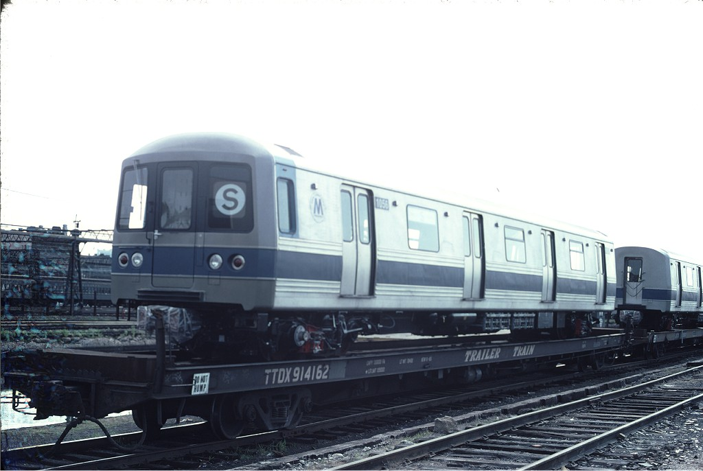 (132k, 1024x686)<br><b>Country:</b> United States<br><b>City:</b> Hoboken, NJ<br><b>System:</b> New York City Transit<br><b>Location:</b> Hoboken Yard <br><b>Car:</b> R-46 (Pullman-Standard, 1974-75) 1056 <br><b>Photo by:</b> Ed McKernan<br><b>Collection of:</b> Joe Testagrose<br><b>Date:</b> 6/13/1977<br><b>Viewed (this week/total):</b> 0 / 452