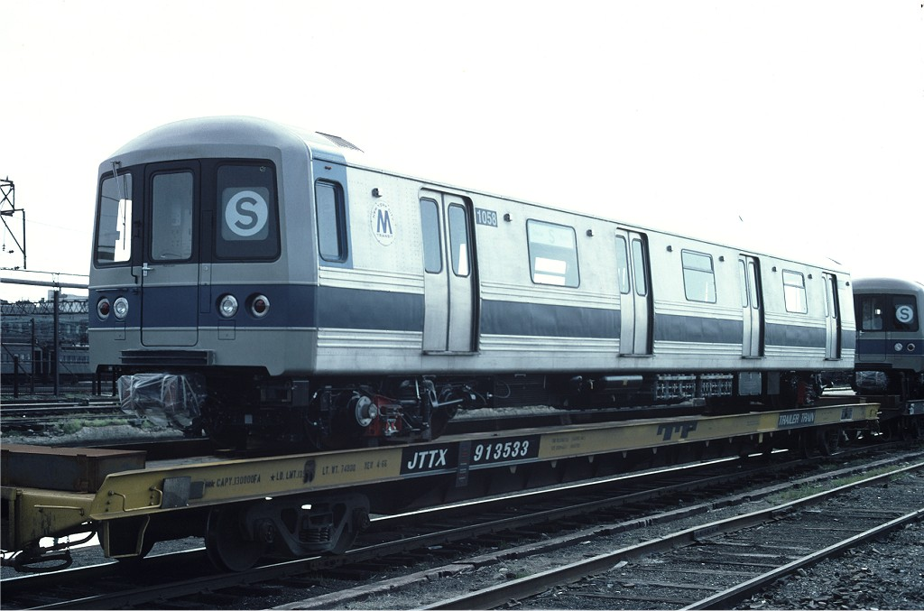 (151k, 1024x677)<br><b>Country:</b> United States<br><b>City:</b> Hoboken, NJ<br><b>System:</b> New York City Transit<br><b>Location:</b> Hoboken Yard <br><b>Car:</b> R-46 (Pullman-Standard, 1974-75) 1058 <br><b>Photo by:</b> Ed McKernan<br><b>Collection of:</b> Joe Testagrose<br><b>Date:</b> 6/13/1977<br><b>Viewed (this week/total):</b> 0 / 386
