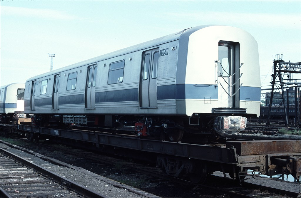(169k, 1024x674)<br><b>Country:</b> United States<br><b>City:</b> Hoboken, NJ<br><b>System:</b> New York City Transit<br><b>Location:</b> Hoboken Yard <br><b>Car:</b> R-46 (Pullman-Standard, 1974-75) 1059 <br><b>Photo by:</b> Ed McKernan<br><b>Collection of:</b> Joe Testagrose<br><b>Date:</b> 6/13/1977<br><b>Viewed (this week/total):</b> 0 / 421