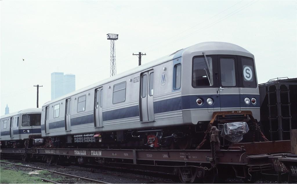(121k, 1024x635)<br><b>Country:</b> United States<br><b>City:</b> Hoboken, NJ<br><b>System:</b> New York City Transit<br><b>Location:</b> Hoboken Yard <br><b>Car:</b> R-46 (Pullman-Standard, 1974-75) 1076 <br><b>Photo by:</b> Ed McKernan<br><b>Collection of:</b> Joe Testagrose<br><b>Date:</b> 7/4/1977<br><b>Viewed (this week/total):</b> 3 / 529