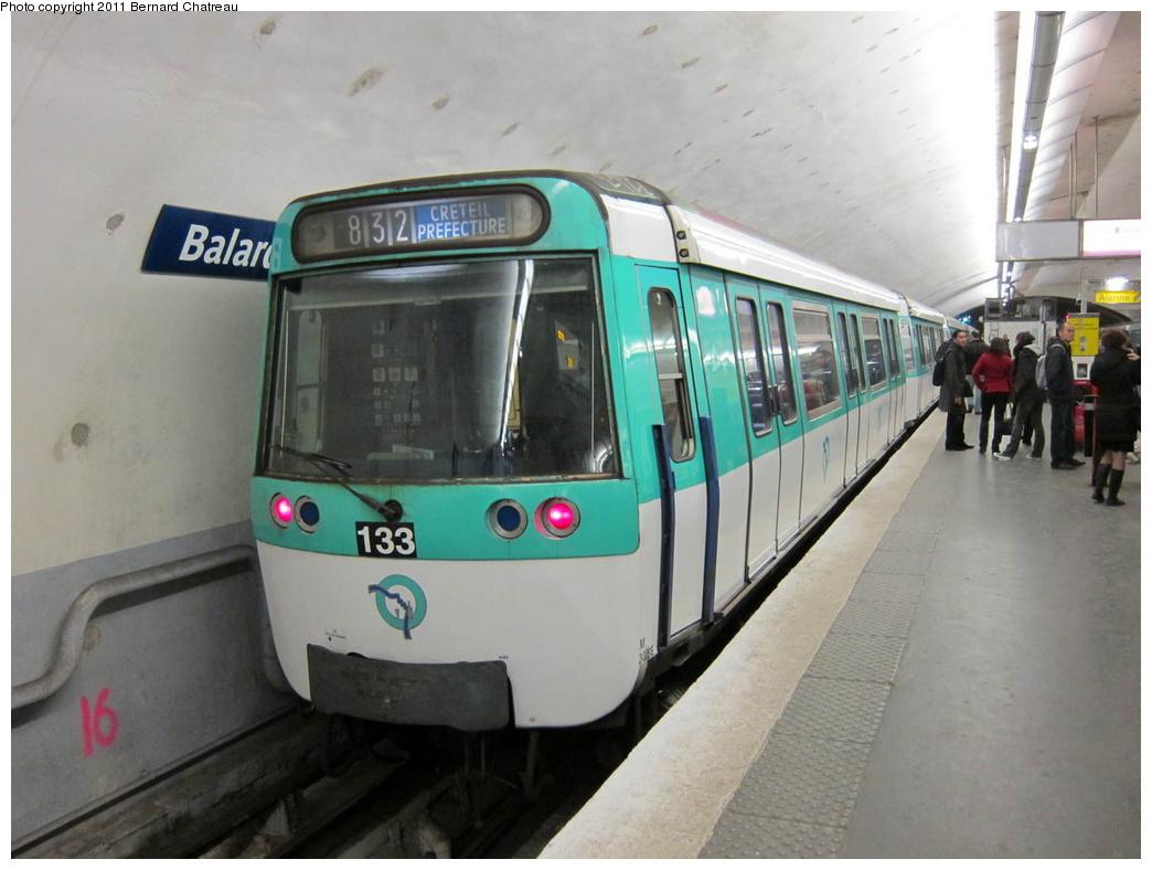 (248k, 1044x788)<br><b>Country:</b> France<br><b>City:</b> Paris<br><b>System:</b> RATP (Régie Autonome des Transports Parisiens)<br><b>Line:</b> Metro Ligne 8<br><b>Location:</b> Balard<br><b>Car:</b> MF77 30265 <br><b>Photo by:</b> Bernard Chatreau<br><b>Date:</b> 1/28/2010<br><b>Viewed (this week/total):</b> 0 / 500